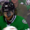 Watch: Puck Gets Stuck in the Visor of Stars' Patrik Nemeth