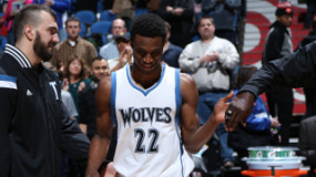 Watch: Wolves' Andrew Wiggins Posterizes Jazz Defensive Big Man Rudy Gobert