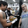 Manny Pacquiao Has Speed Bag With Floyd Mayweather's Face on It