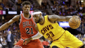 Watch: LeBron James Blows By Jimmy Butler For Dunk