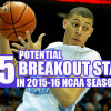 15 Potential Breakout Stars In 2015-16 College Basketball Season