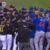 Benches Clear After Jake Arrieta is Hit By Pitch