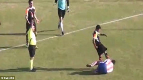 Turkish Football Player Kicks Opponent In The Face