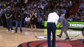 PGA Tour Golfer Chips it in From Half-Court During Heats-Cavs Game