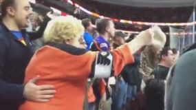 Elderly Fan Throws Her Bra On The Ice After Hat Trick