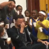 Steph Curry Gets Doused With Cups Of Water
