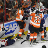 Flyers Fans Litter the Ice as Bellemare is Ejected for Hit on Orlov