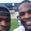 P.K. Subban and DeMarco Murray at Titans practice