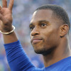 Victor Cruz Visits Panthers