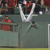 Austin Jackson Leaps Over Wall to Make Catch of the Year