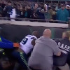 Seahawks' Jefferson Tries to Enter Stands After Fan Throws Debris