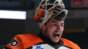 Flyers Prospect Alex Lyon Makes 94 Saves in AHL's Longest Game