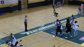 College Basketball Player's Crazy Vicious Elbow to his Opponents Face