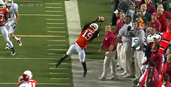 Crazy Oklahoma State Interception vs. Oklahoma