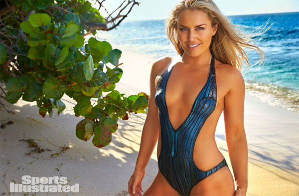 SI Swimsuit 2016: Lindsey Vonn works out on set in body