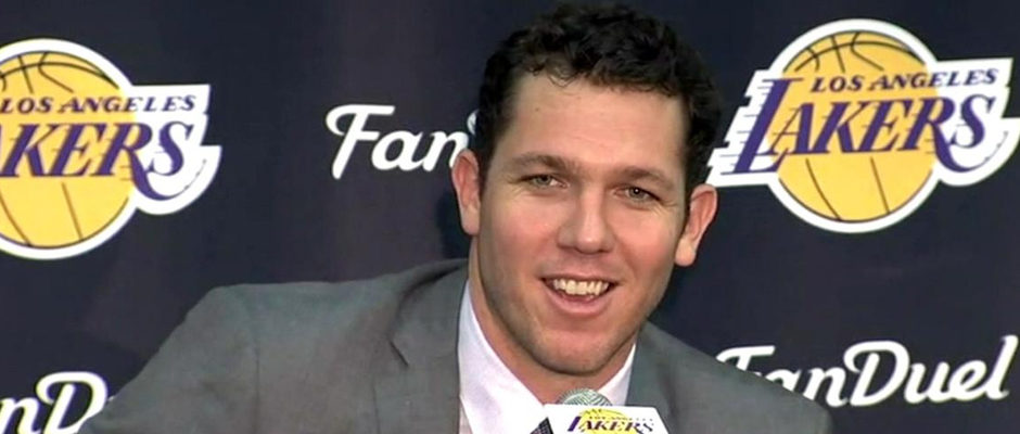 The Los Angeles Lakers Would 'Run Through a Wall' for Head Coach Luke Walton