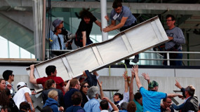 Video: Fans Injured By Falling Sheet Metal at French Open
