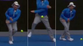 Tennis Line Judge Takes Ball To The Groin (Video)
